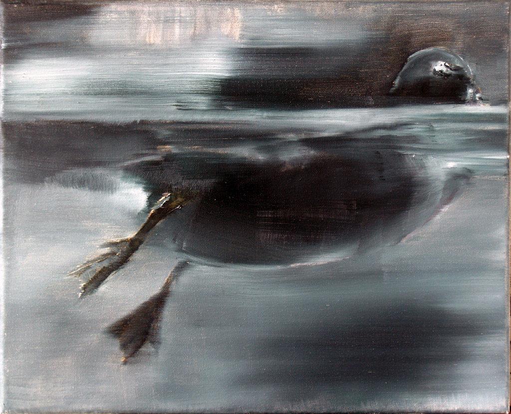 Ente 40 / Öl auf Leinwand / 24 x 30 cm / 2010